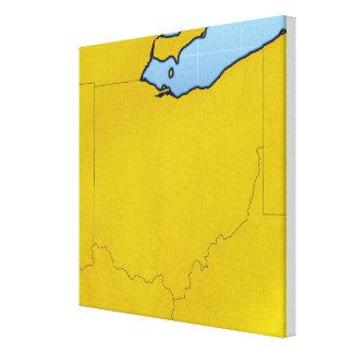 Map of Ohio Canvas Print
