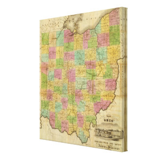 Map of Ohio Canvas Print