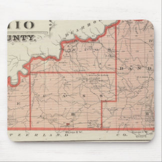 Map of Ohio County with City of Rising Sun Mouse Mat