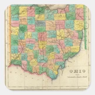 Map Of Ohio Square Sticker