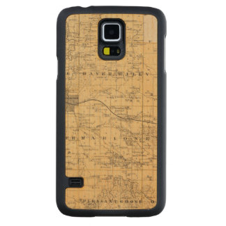 Map of Olmsted County, Minnesota Carved Maple Galaxy S5 Case