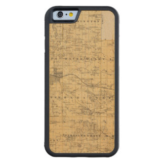 Map of Olmsted County, Minnesota Carved Maple iPhone 6 Bumper Case