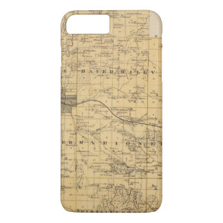 Map of Olmsted County, Minnesota iPhone 8 Plus/7 Plus Case