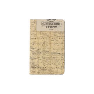 Map of Olmsted County, Minnesota Pocket Moleskine Notebook