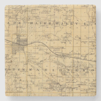 Map of Olmsted County, Minnesota Stone Coaster