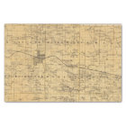Map of Olmsted County, Minnesota Tissue Paper