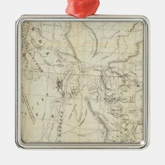 Map of Oregon, California, New Mexico Christmas Ornament