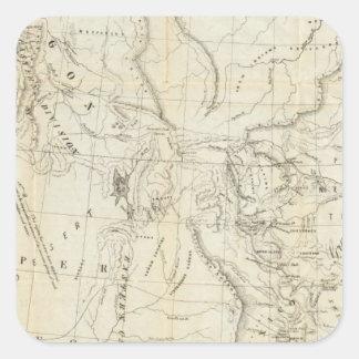 Map of Oregon, California, New Mexico Square Sticker