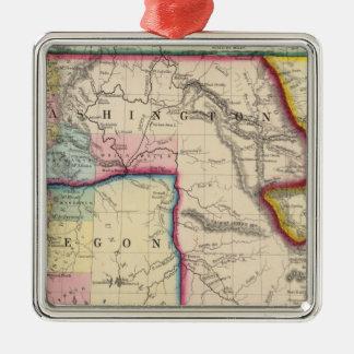Map Of Oregon, Washington Christmas Ornament