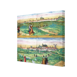 Map of Orleans and Bourges, from 'Civitates Orbis Canvas Print