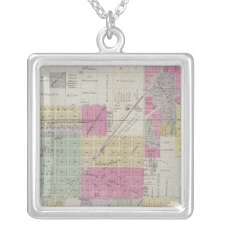 Map of Osage City, Kansas Silver Plated Necklace