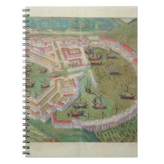 Map of Ostia, from 'Civitates Orbis Terrarum' by G Notebook