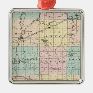 Map of Outagamie County, State of Wisconsin Christmas Ornament