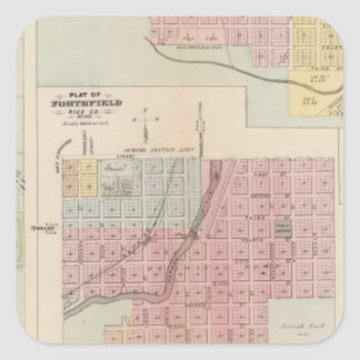 Map of Owatonna, Map of Mantorville, Minnesota Square Sticker