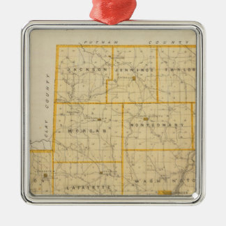 Map of Owen County Christmas Ornament