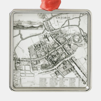 Map of Oxford, 1643 Christmas Ornament