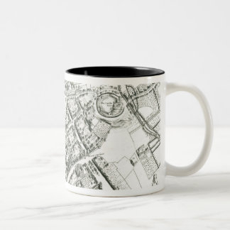 Map of Oxford, 1643 Two-Tone Mug