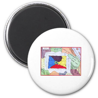 Map Of Oz 6 Cm Round Magnet