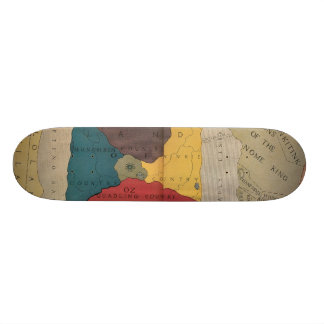 Map of Oz and surrounding countries and deserts Skate Decks