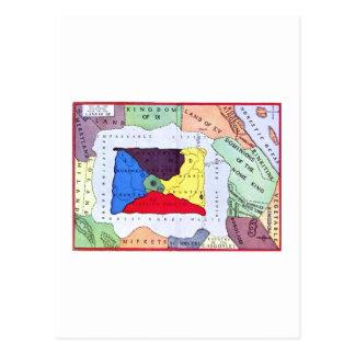 Map Of Oz Postcard