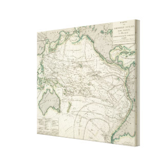 Map of Pacific Ocean Canvas Print