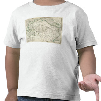 Map of Pacific Ocean T-shirts