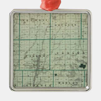 Map of Page County, State of Iowa Christmas Ornament