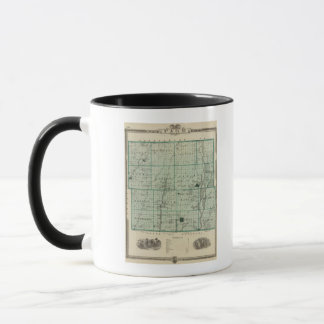 Map of Page County, State of Iowa Mug