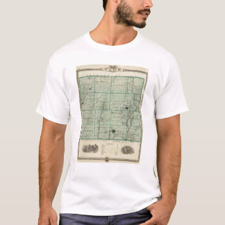 Map of Page County, State of Iowa T-Shirt