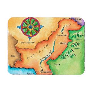 Map of Pakistan Rectangular Photo Magnet