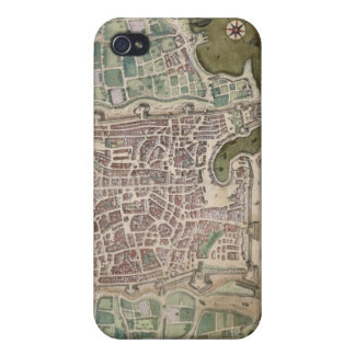 Map of Palermo, from 'Civitates Orbis Terrarum' by Cases For iPhone 4