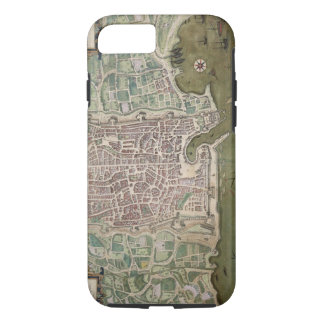 Map of Palermo, from 'Civitates Orbis Terrarum' by iPhone 8/7 Case