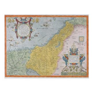Map of Palestine Postcard