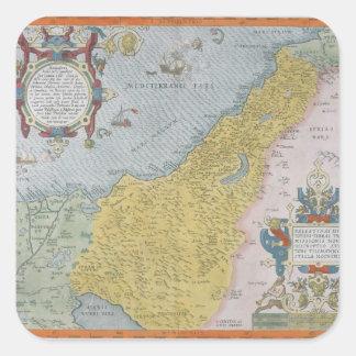 Map of Palestine Square Sticker