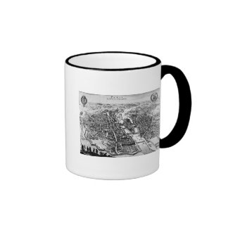 Map of Paris, 1620 Ringer Mug