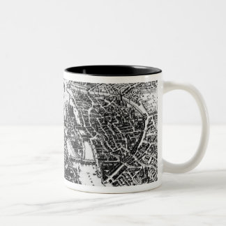 Map of Paris, 1620 Two-Tone Coffee Mug