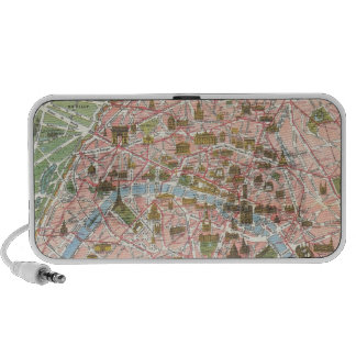 Map of Paris Doodle Speaker