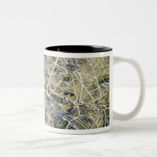 Map of Paris during the 'Grands Travaux' Two-Tone Coffee Mug
