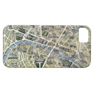 Map of Paris during the period of the Grands iPhone 5 Cases