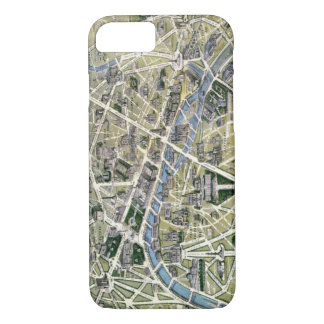 Map of Paris during the period of the Grands iPhone 7 Case