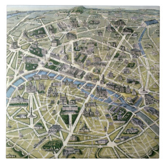 Map of Paris during the period of the Grands Large Square Tile
