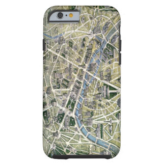 Map of Paris during the period of the Grands Tough iPhone 6 Case