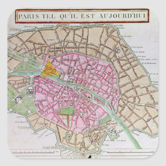 Map of Paris, June 1800 Square Sticker