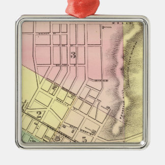 Map of Parkersburg, West Virginia Christmas Ornament