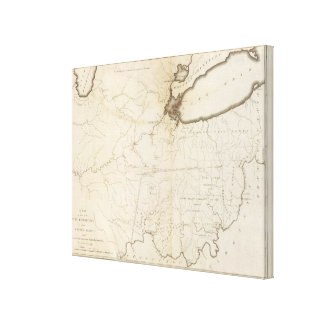 Map of part of the North West Territory Canvas Print