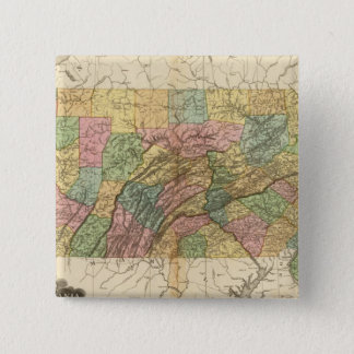 Map of Pennsylvania and New Jersey 15 Cm Square Badge