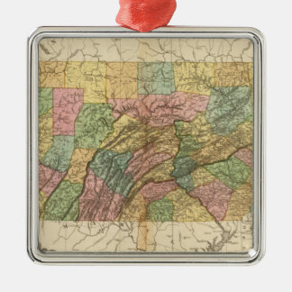 Map of Pennsylvania and New Jersey Christmas Ornament