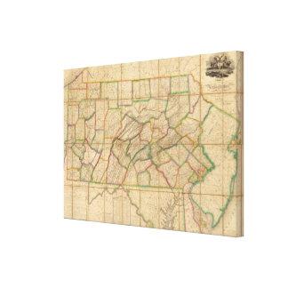 Map of Pennsylvania Canvas Print
