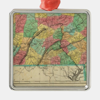 Map Of Pennsylvania Christmas Ornament