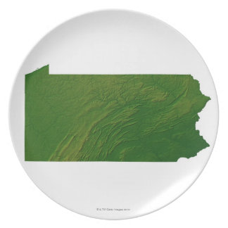 Map of Pennsylvania Dinner Plates